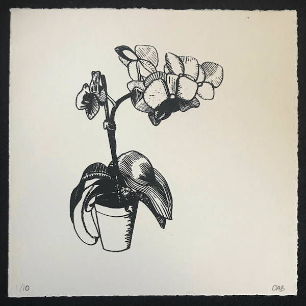 Orchid screenprint